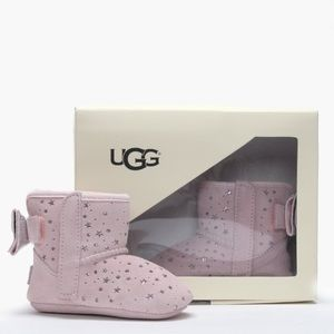 UGG Jesse Bow II Star Girl Baby Pink NEW